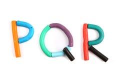 Plasticine alphabet Royalty Free Stock Photo
