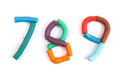 Plasticine alphabet Stock Photo