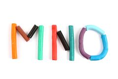 Plasticine alphabet Stock Photography