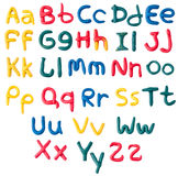 Plasticine alphabet Royalty Free Stock Photography