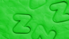 Plasticine animation background stock video footage