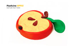 Plasticine apple slice Royalty Free Stock Image