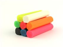 Plasticine, argilla Fotografia Stock