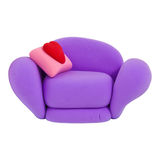Plasticine armchair. Small violet armchair, made from child's play plasticine Royalty Free Stock Images