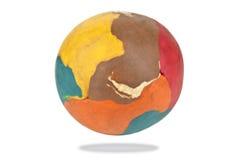 Plasticine ball on white Stock Photo