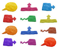 Plasticine banners Stock Images