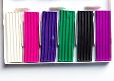Plasticine bars Royalty Free Stock Image