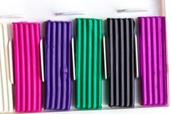 Plasticine bars Stock Photo