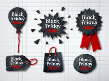 Plasticine Black Friday banners Stock Photography