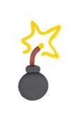 Plasticine bomb. Stock Images