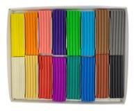 Plasticine in a box Stock Images