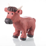 Plasticine bull royalty free stock photography