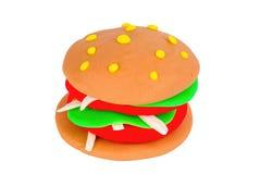 Plasticine burger. Royalty Free Stock Images