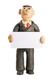 Plasticine businessman Stock Photography