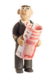 Plasticine businessman Stock Photo