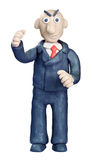 Plasticine businessman Royalty Free Stock Image