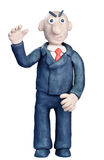 Plasticine businessman Stock Images