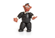 Plasticine businessman Stock Image