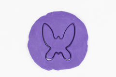 Plasticine butterfly. Stock Photography
