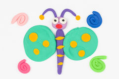 Plasticine butterfly. Royalty Free Stock Image