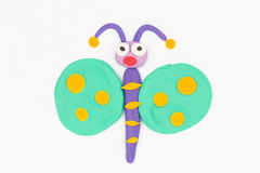 Plasticine butterfly. Stock Photos