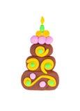 Plasticine cake. Stock Photography