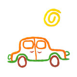 Plasticine car Royalty Free Stock Images