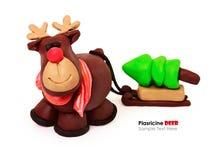 Plasticine cartoon deer Stock Images