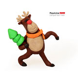 Plasticine cartoon deer Stock Image