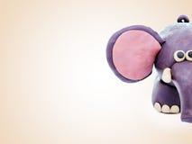 Plasticine cartoon elephant Royalty Free Stock Photos