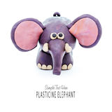 Plasticine cartoon elephant Royalty Free Stock Images