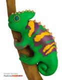 Plasticine chameleon Stock Photos