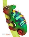 Plasticine chameleon Royalty Free Stock Image