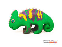 Plasticine chameleon Royalty Free Stock Photo