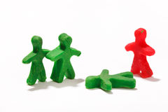 Plasticine characters Royalty Free Stock Photography