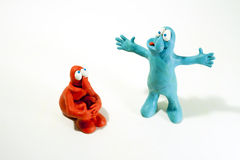 Plasticine characters Stock Photos
