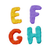 Plasticine Clay Alphabet. Vector Photo Realistic Plasticine Clay Alphabet. Quality Close Up View Stock Photo