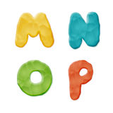 Plasticine Clay Alphabet. Vector Photo Realistic Plasticine Clay Alphabet. Quality Close Up View Royalty Free Stock Photos