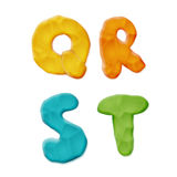 Plasticine Clay Alphabet. Vector Photo Realistic Plasticine Clay Alphabet. Quality Close Up View Stock Photos