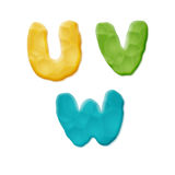 Plasticine Clay Alphabet. Vector Photo Realistic Plasticine Clay Alphabet. Quality Close Up View Stock Photography