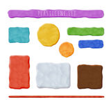 Plasticine Clay Banners Stock Images