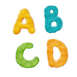 Plasticine Clay Font. Vector Photo Realistic Plasticine Clay Alphabet. Quality Close Up View Stock Image
