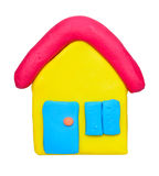 Plasticine clay house Royalty Free Stock Photos