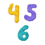 Plasticine Clay Numbers Royalty Free Stock Photography