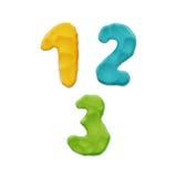 Plasticine Clay Numbers Stock Image