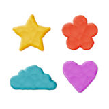 Plasticine Clay Shapes Royalty Free Stock Photo