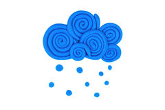 Plasticine cloud. Royalty Free Stock Photos