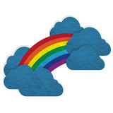 Plasticine cloud and rainbow Stock Photo