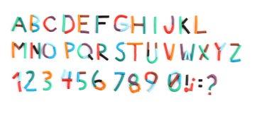 Plasticine color alphabet Royalty Free Stock Images