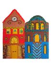 Plasticine colored house Stock Photos